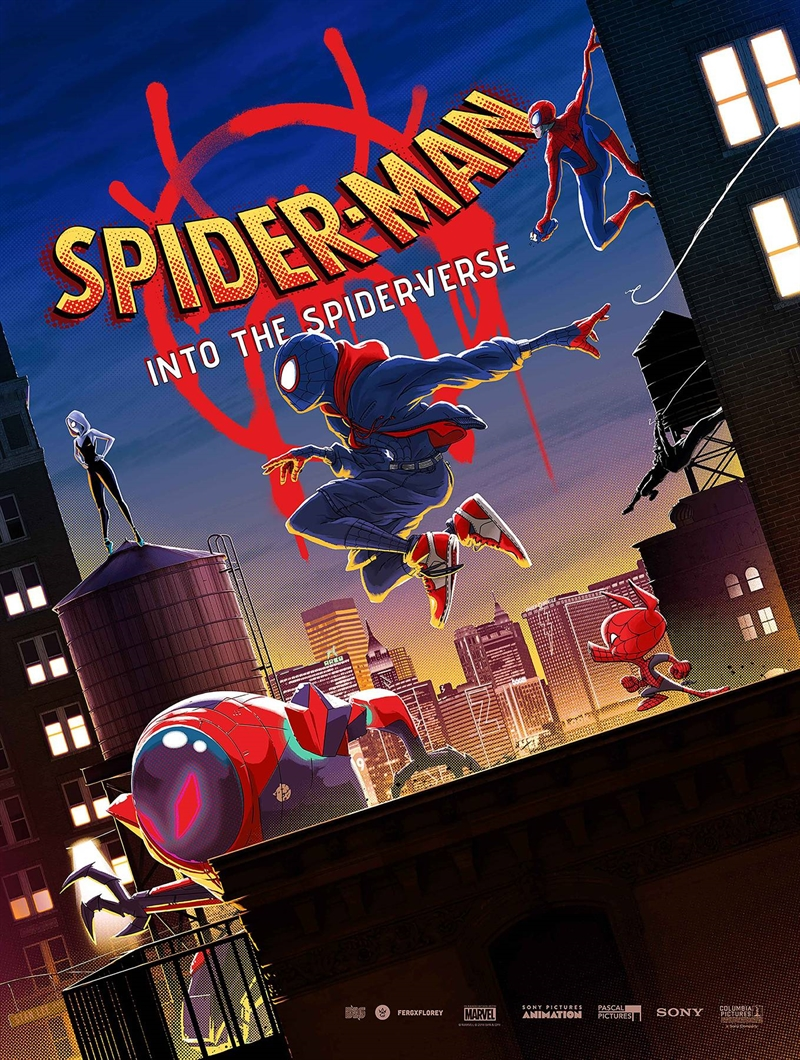 spiderman into the spiderverse poster book tp